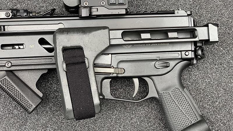 Stribog SP9A1 Brace Folded Left