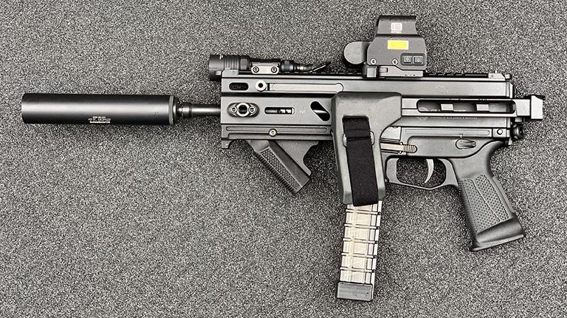 Stribog SP9A1 Suppressed Folded Left