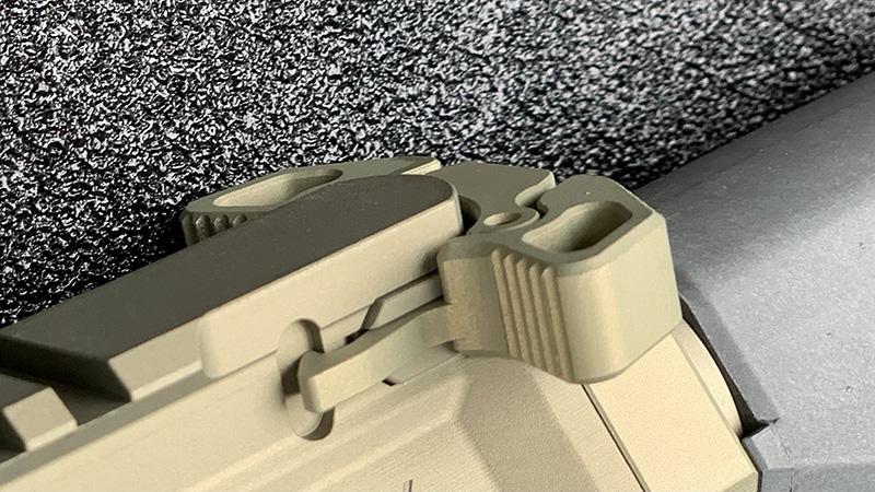 Honey Badger Pistol Radian Charging Handle front