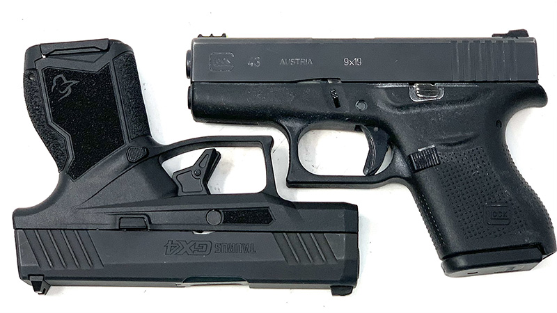 Glock 43 vs Taurus GX4 Square