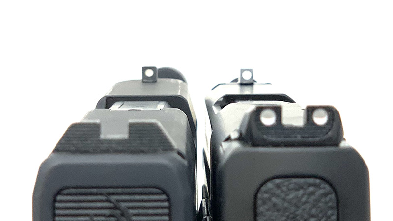 SW Shield Plus vs Taurus GX4 Sights