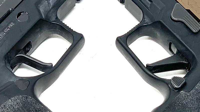Sig P320 Flat Trigger vs Apex Rear of Triggers