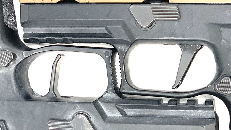 Sig P320 Flat Trigger vs Apex Triggers Side