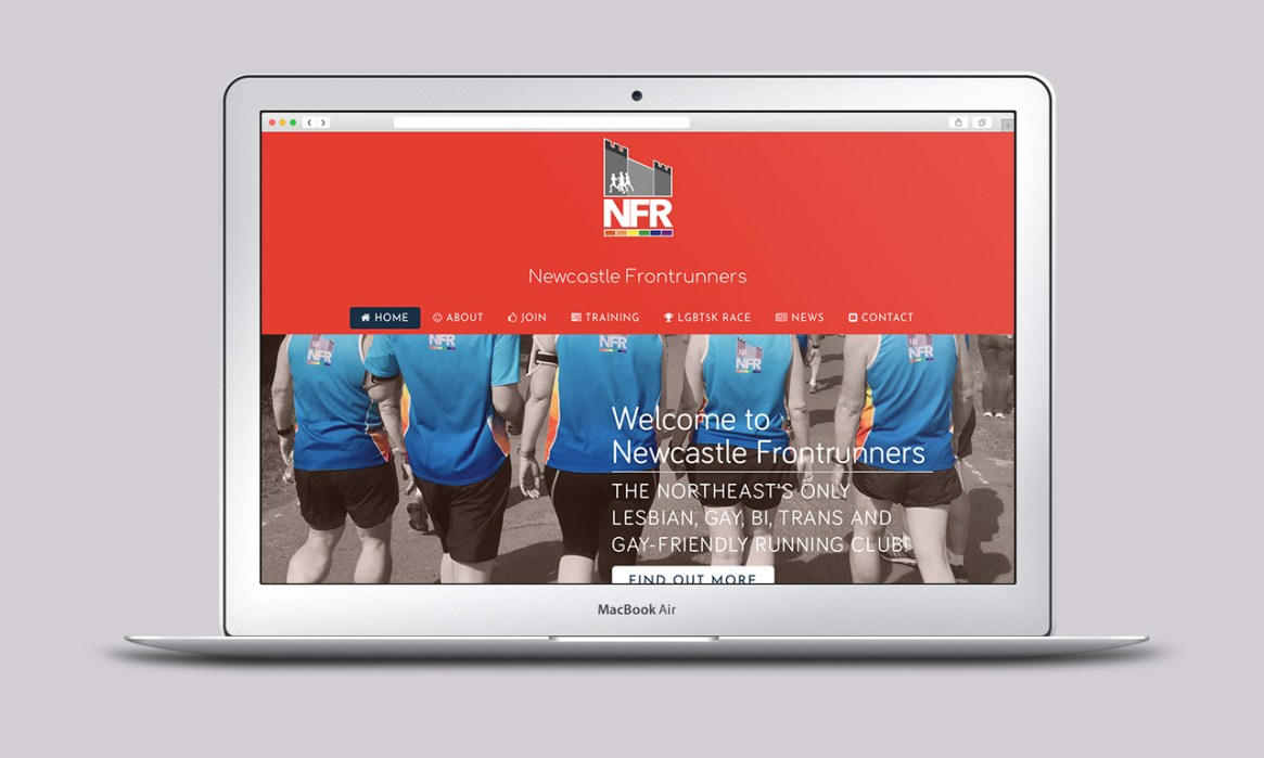LGBT Running Club Website - Designed by Harry Vann