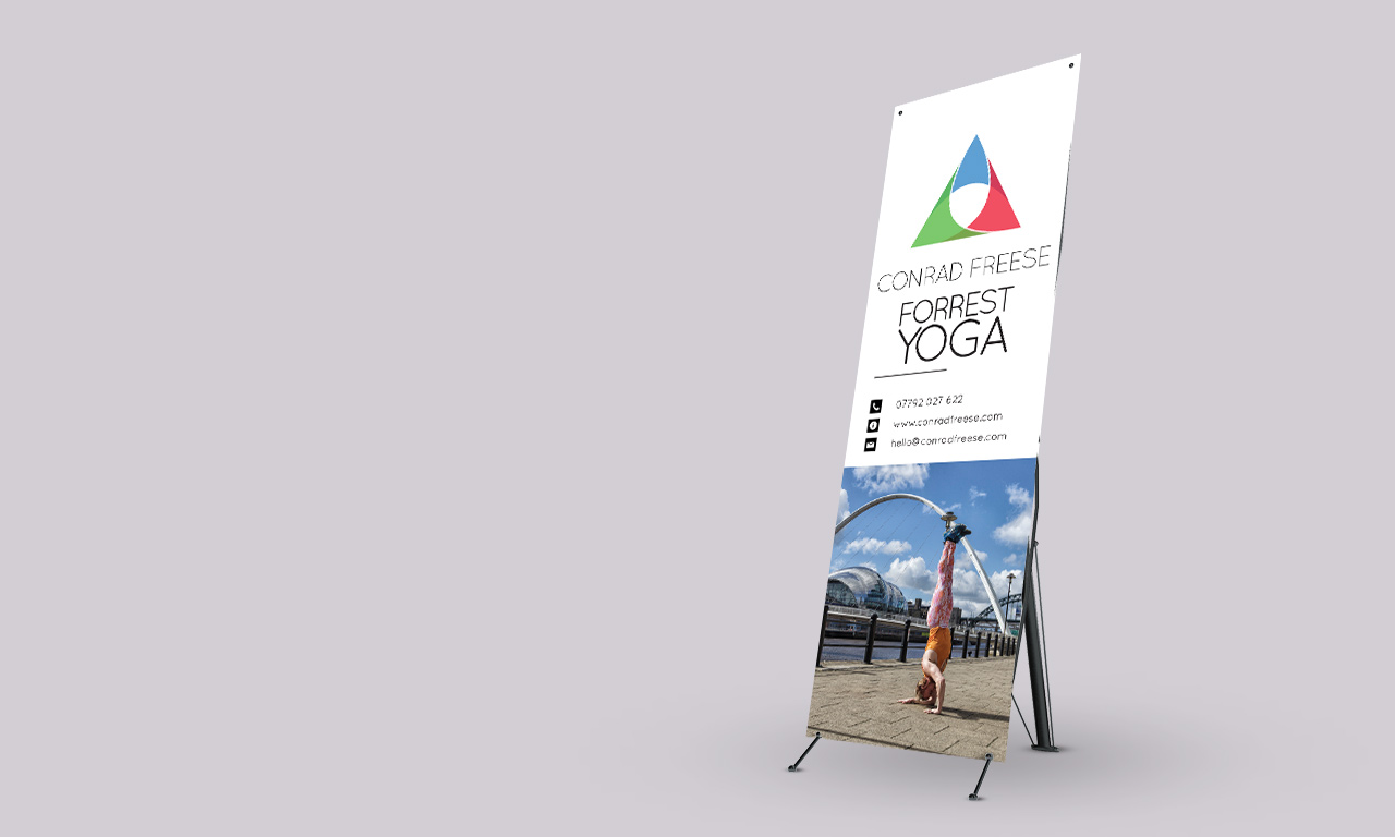 Conrad Freese - Forrest Yoga banner stand