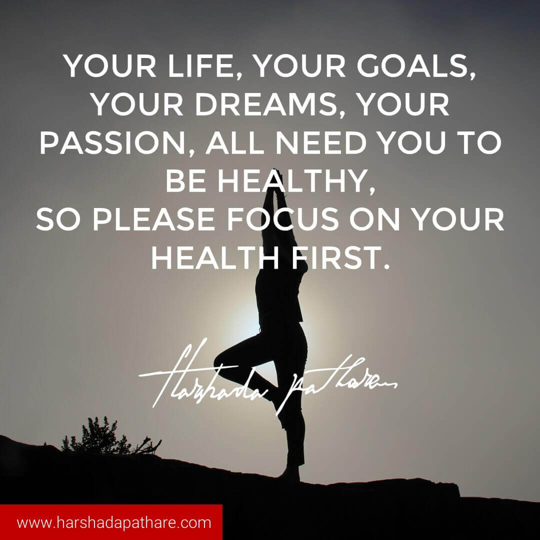 Healthy Quotes Live Healthy Quotes  Harshada Pathare I Author Thought Weaver