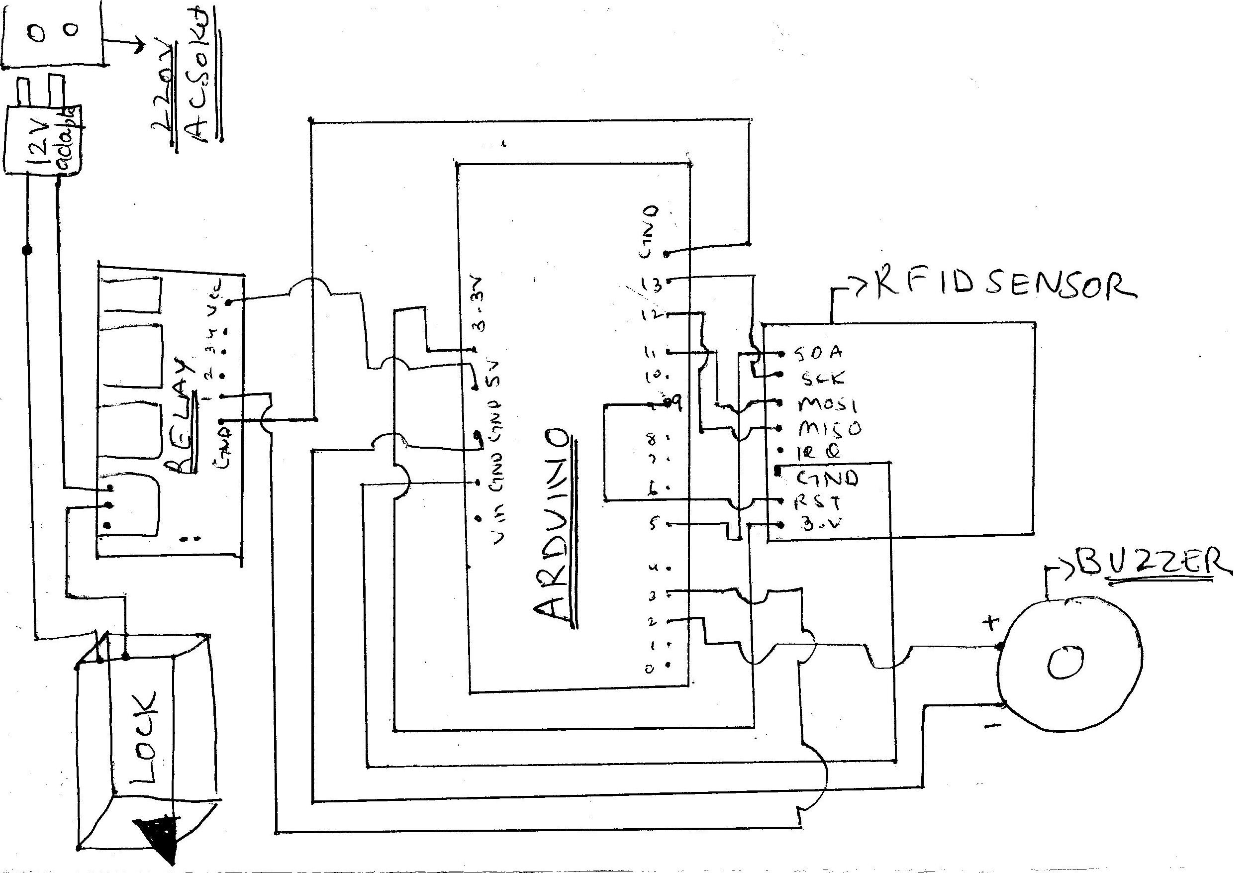 Code and Circuit Diagram for Smart Locking Door System