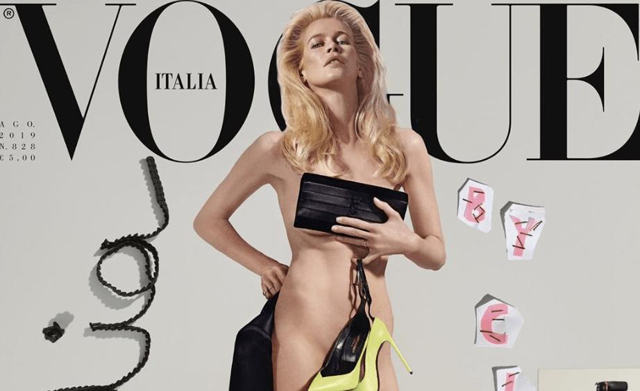 Claudia Schiffer, 48, and Stephanie Seymour, 51, pose nude for Vogue Italia: 'Mature women back ...