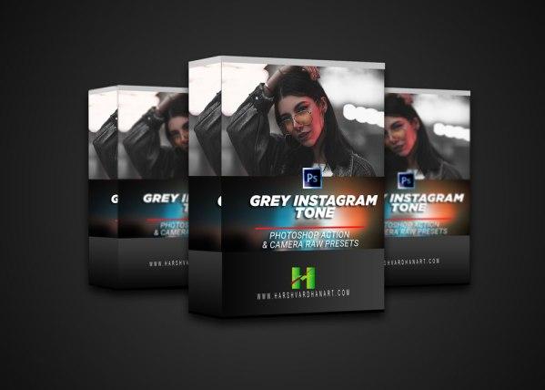 Grey Instagram Tone Photoshop-Download Free Photoshop Action