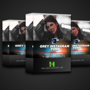 Grey Instagram Tone Photoshop-Download Free Photoshop Action