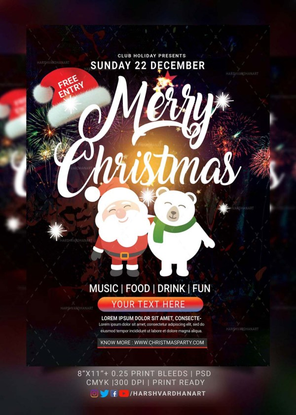 EDITABLE Christmas Flyer Template-Easy to Use and Customize 4
