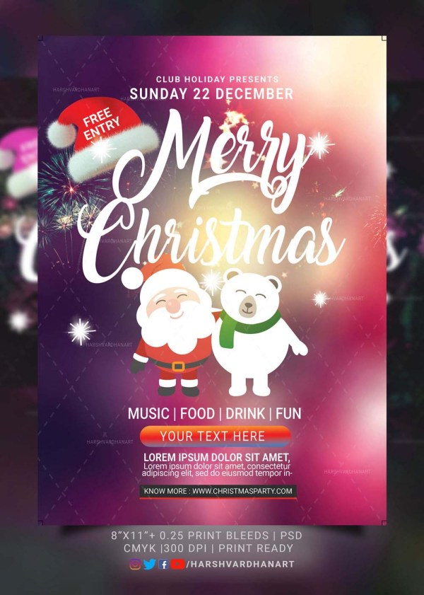 EDITABLE Christmas Flyer Template-Easy to Use and Customize 5