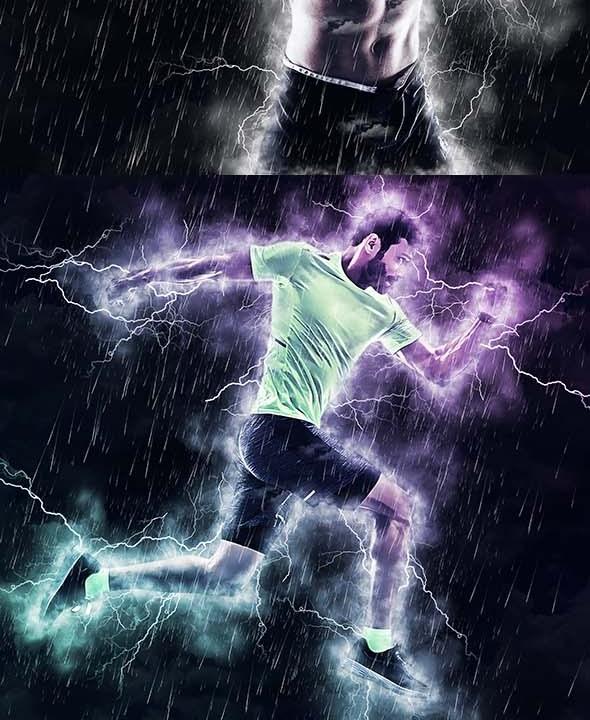 Thunderstorm Photoshop Action