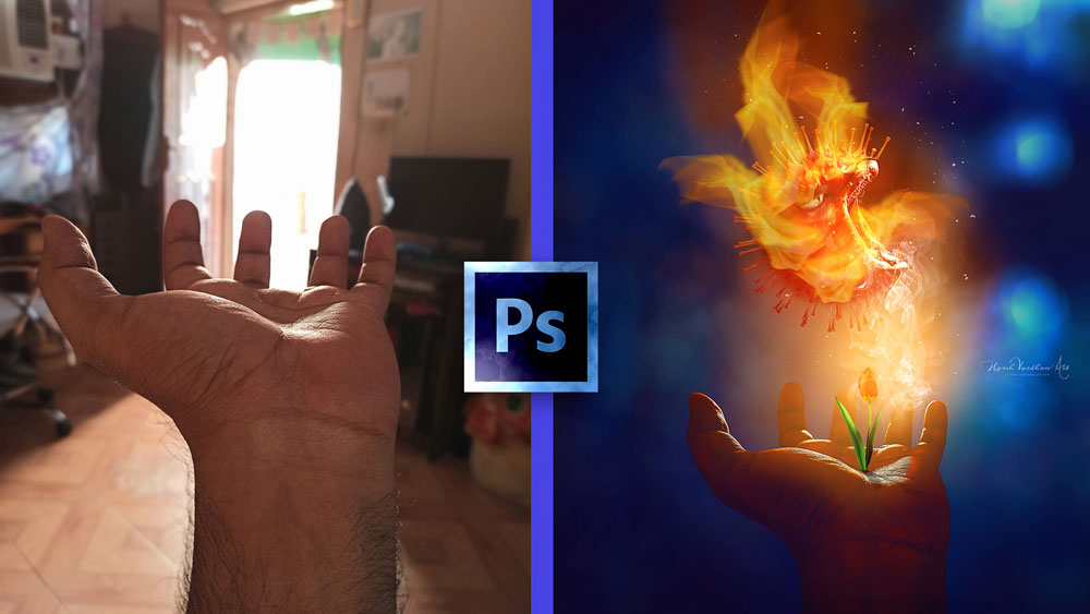 Photomanipulation in Photoshop CC Kill Corona with Ayurveda 1