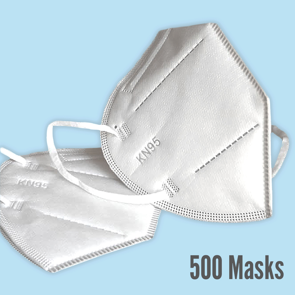 Premium KN95 Masks, 500 count  ($1.50 per mask)