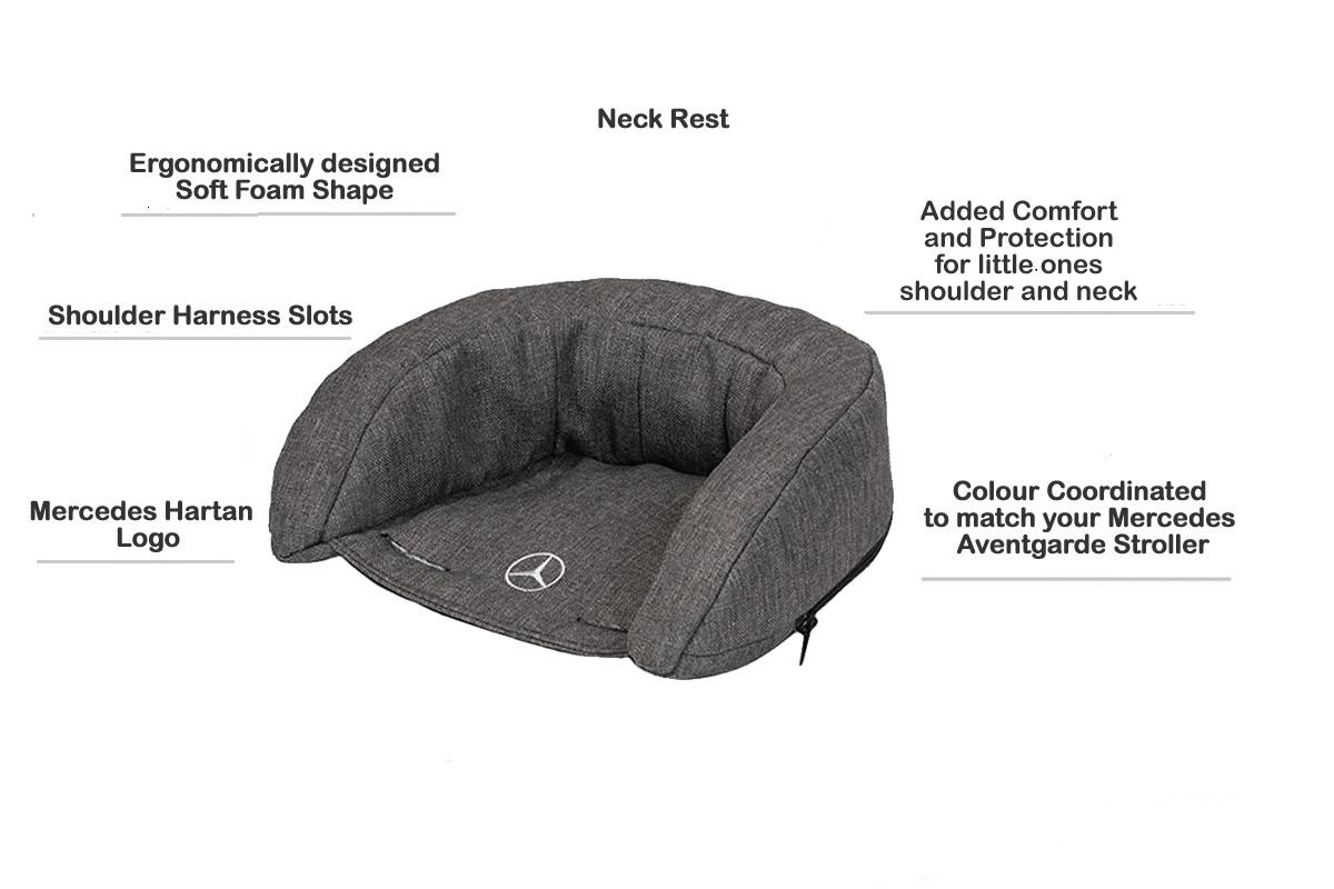 Hartan Mercedes-Benz neck rest features