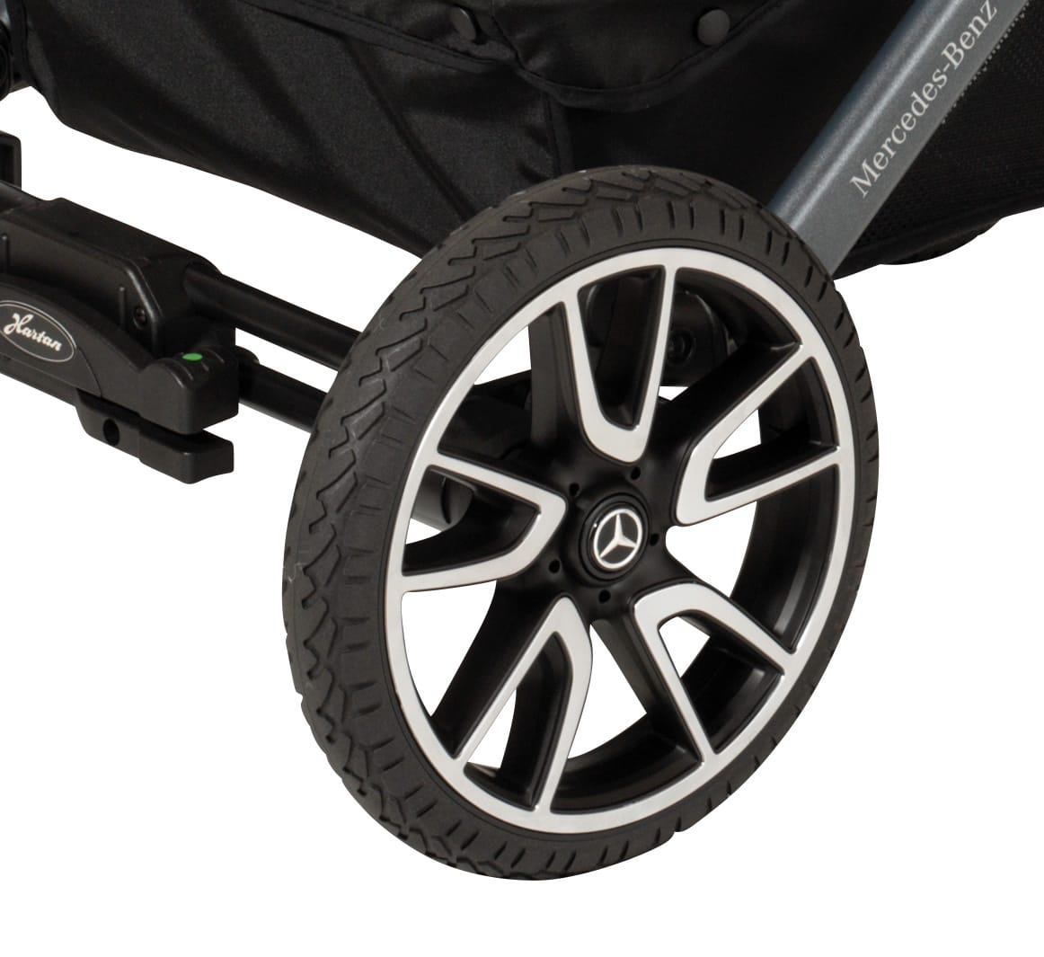 Hartan Mercedes-Benz stroller wheel detail