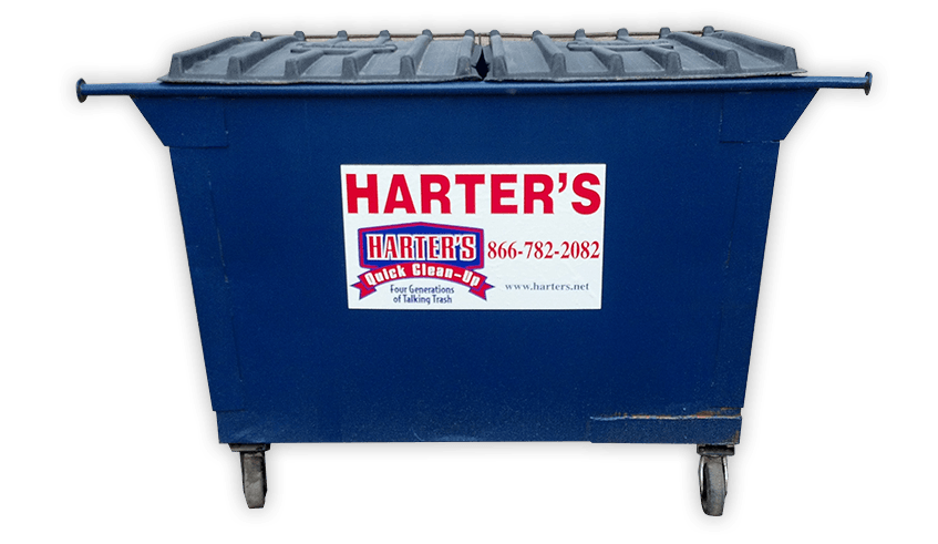 Dumpsters  Totes  Harters Quick Clean Up  Garbage