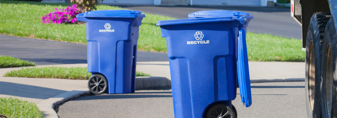 Carted trash  recycling collection is underway  Harters