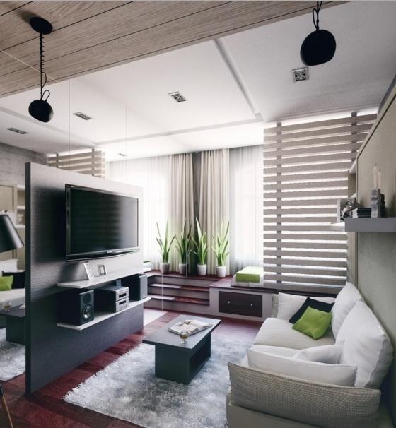 комната студия с кухней фото дизайн 20 квадратов 5
