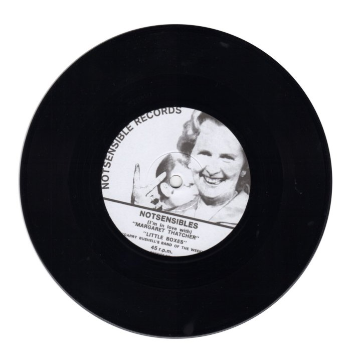 NOTSENSIBLES - Im in Love With Margaret Thatcher Record Side A From Eli Records