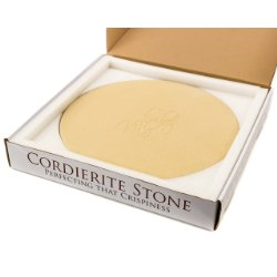 Kit-Chef Round Cordierite Pizza Stone 14 x 3/4 - Sturdy Stone with Great Packaging