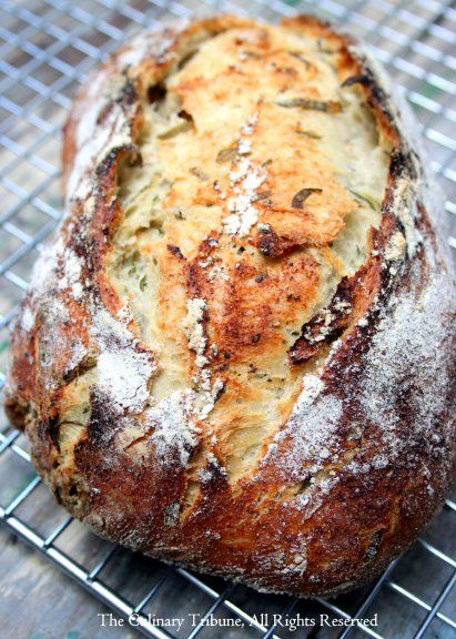 black pepper crust garlic basil bread