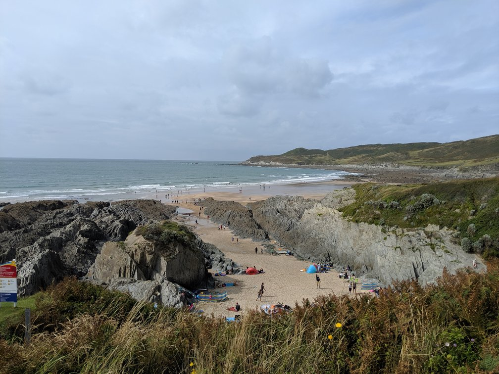 barricane beach near barnstaple. Sandy cove