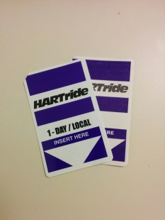 HARTride Passes (these will be history once the new regional fare system is implemented).