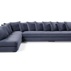 Bright Sofa Italian Leather Sectional Chaise Hart Associates