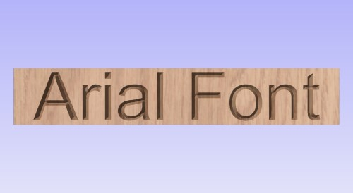 Showing what arial font looks like