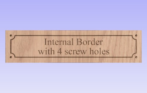 showing internal border with 4 screw holes