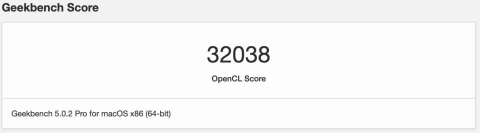 Macbook air Geekbench score