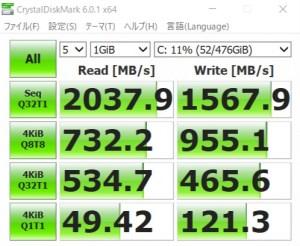 DAIV 5N、SSD、転送速度