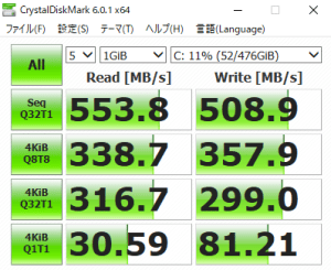 mouse K7,SSD,転送速度,遅い