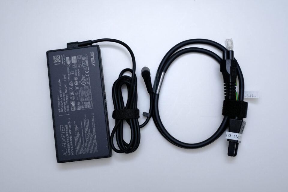 ASUS,Dash F15 FX516PE ,FX516PE-I7R3050TECG,レビュー,感想,ブログ,写真,付属品,AC,電源