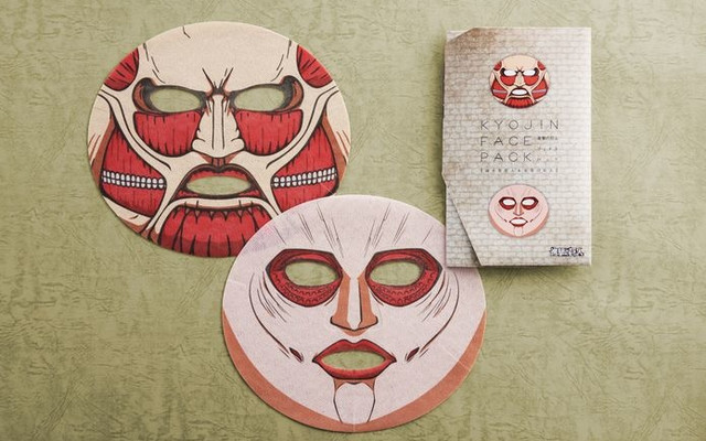 Attack on Titan Beauty Face Packs to Hit Japan Stores 1