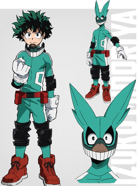 Boku no Hero Academia Hero suit character designs Izuku Midoriya