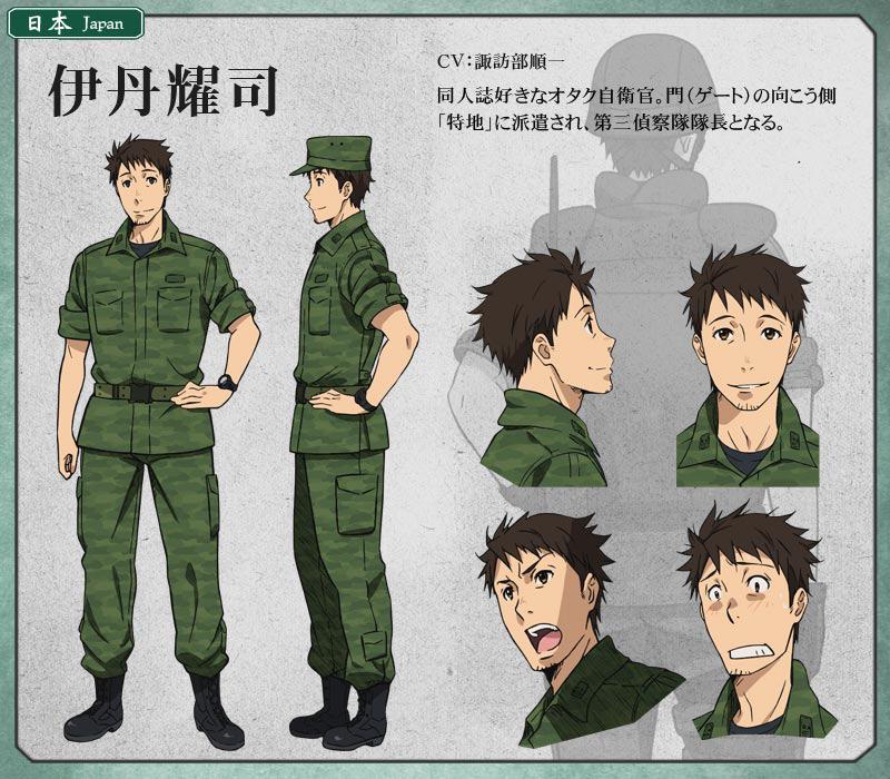 Gate-Anime-Character-Design-Youji-Itami
