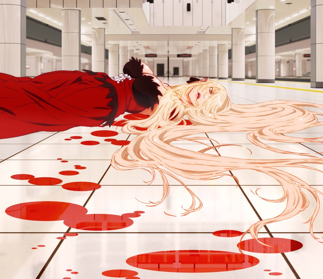 Kizumonogatari kiss shot visual