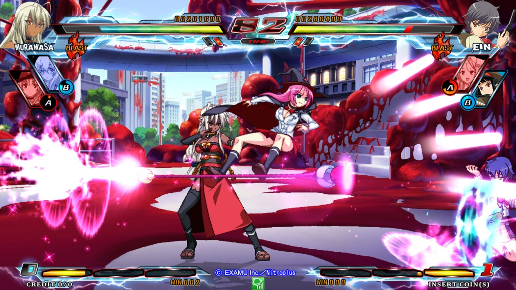 Nitroplus Blasters Heroines Infinite Duel Gameplay haruhichan.com Visual Novel Fighter game screenshot 9