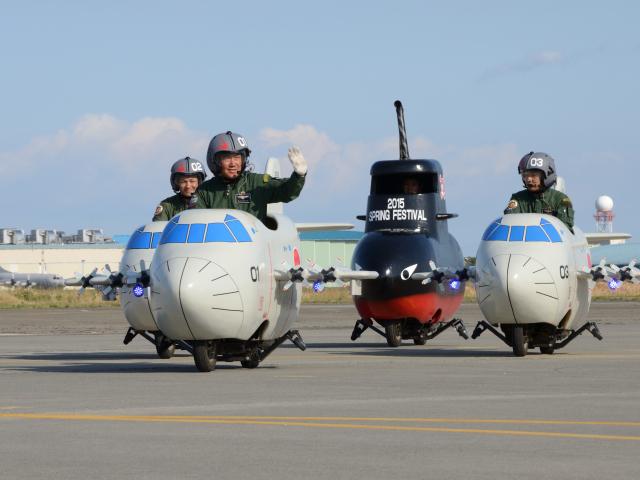 海自P-3C航空隊 隠れた名物?「ミニP-3C」