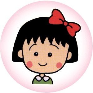 Wallpaper Cute Little Girl Cartoon Chibi Maruko Chan