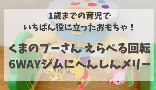 【体験談】プーさんの6WAYジムにへんしんメリーが本当に役に立った!