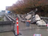 Staged-destruction-on-SFU-walkway