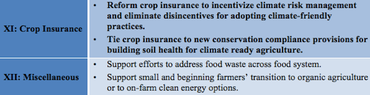 Opportunities to Address Climate Change in the Next Farm Bill
