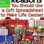 6 Smart Reasons You Should Use A Gift Spreadsheet To Make