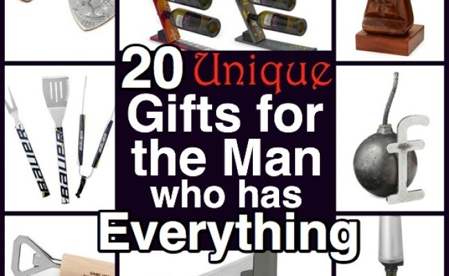 20 Unique Gifts For The Man Who Has Everything Harvard