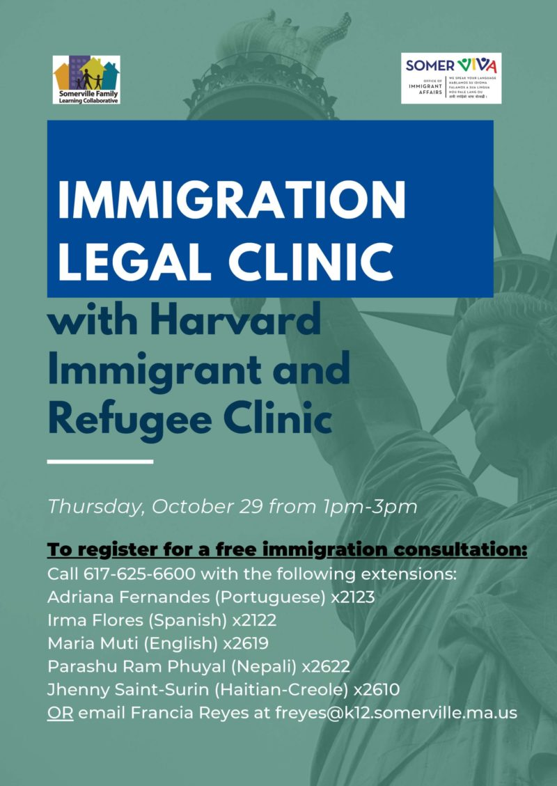 Immigration Legal Clinic Flyer