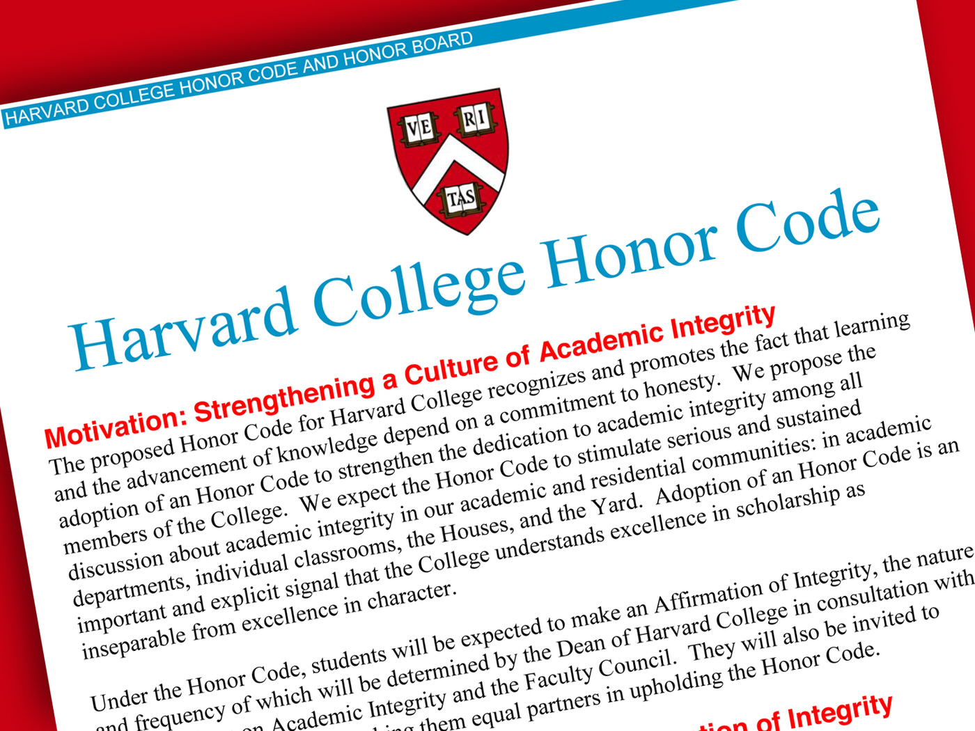 Honor Code Essay Harvard College Adopts Honor Code Harvard Magazine